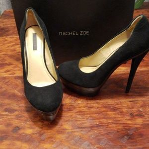 Rachel Zoe Dasha suede w/ crocodile leather